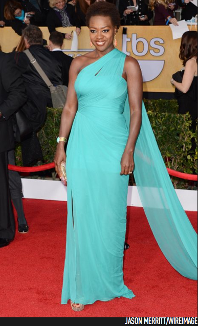 Viola Davis in Monique Lhuillier